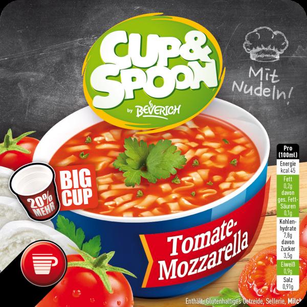 BigCup mit: Cup & Spoon - Tomate Mozzarella
