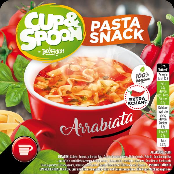 """Big Cup mit: Cup & Spoon """"Pasta Snack"""" - Arrabiata"""