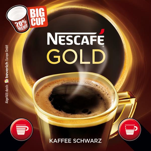 BigCup mit: NESCAFÉ GOLD - schwarz