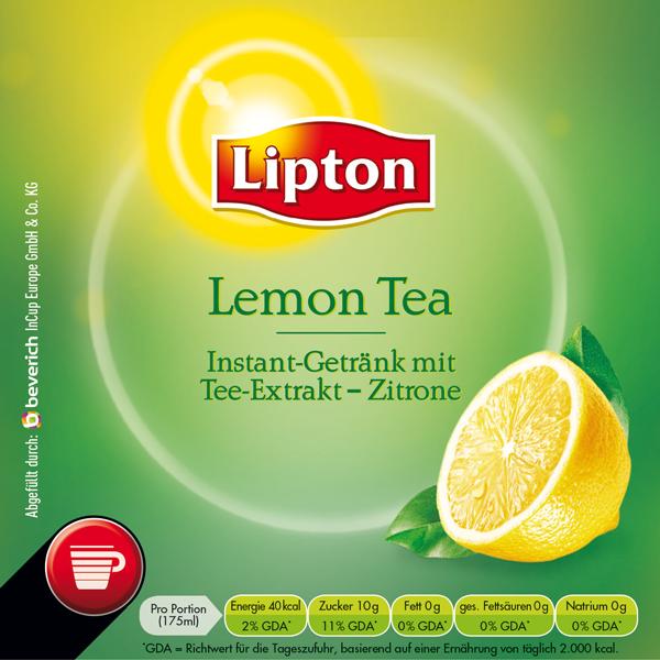 InCup mit: LIPTON - Lemon Tea