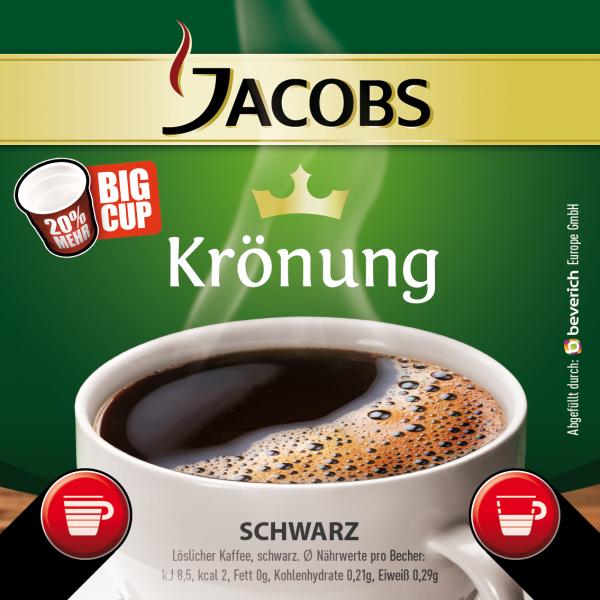 BigCup mit: JACOBS KRÖNUNG - schwarz