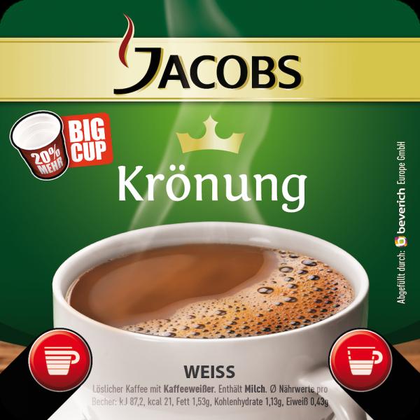 BicCup mit: JACOBS KRÖNUNG - Kaffeeweißer