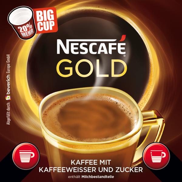 BigCup mit: NESCAFÈ GOLD - Kaffeeweißer & Zucker