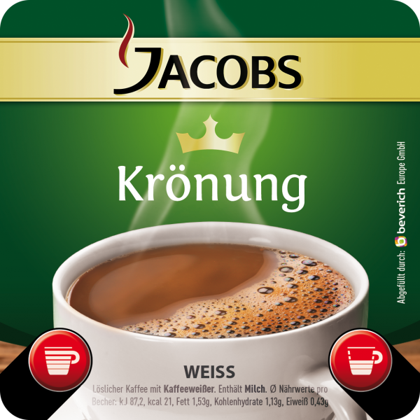 InCup mit: JACOBS KRÖNUNG V2.3 - Kaffeeweißer