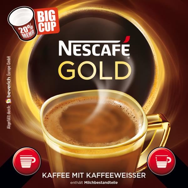 BigCup mit: NESCAFÉ GOLD - Kaffeeweißer